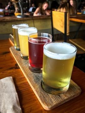A sampling of many good beers in Portland